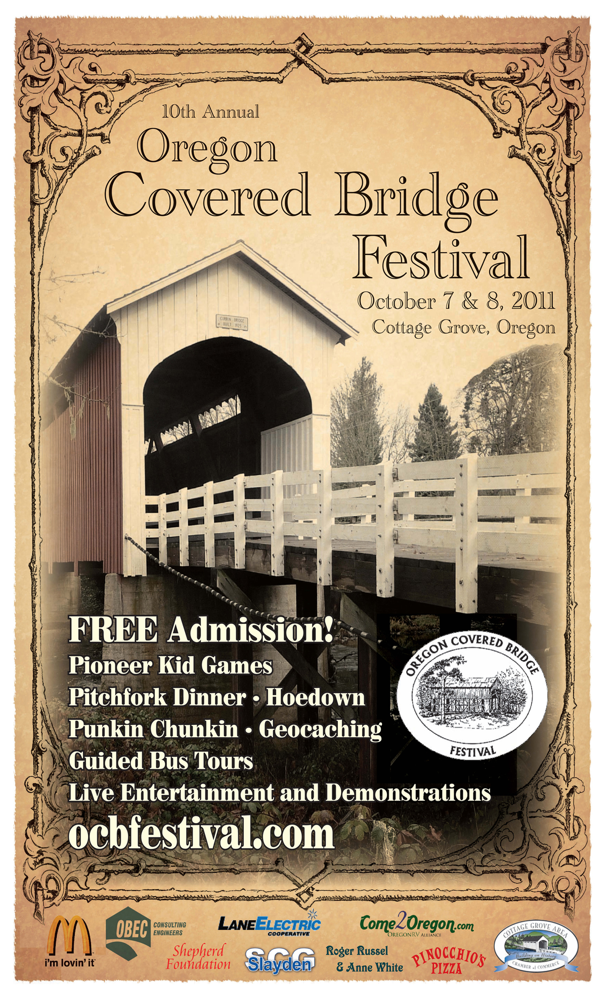 2011 Oregon Covered Bridge Festival poster