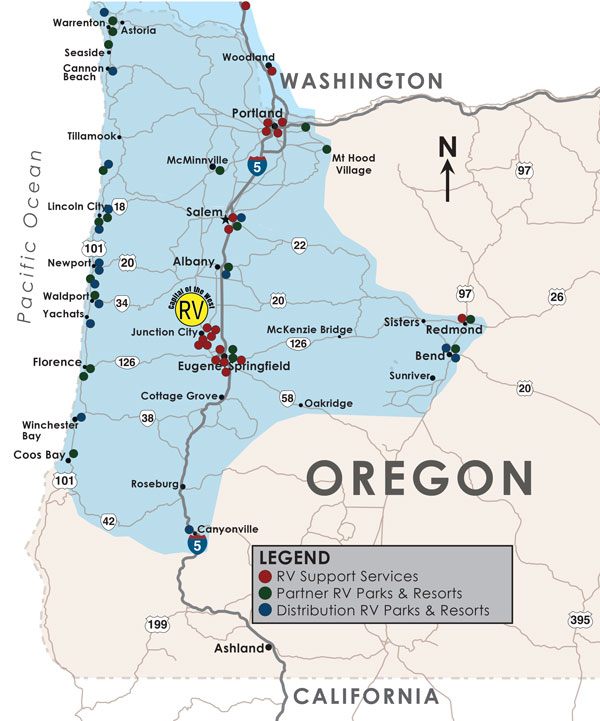 Distribution Oregon RV Resource Guide - Map of oregon rv parks